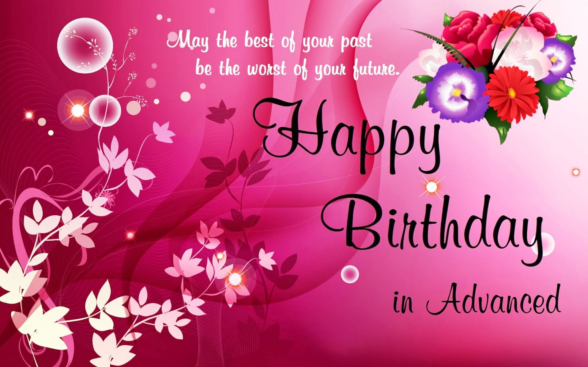 Happy Birthday Wallpaper Hd Page 2 Of 3 Wallpaper Wiki Happy Birthday Wishes Cards Advance Birthday Wishes Birthday Wishes And Images