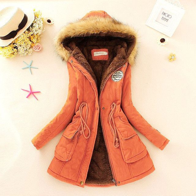 66ff1f606 Autumn Warm Winter Jacket Women Fashion Women's Fur Collar Coats ...