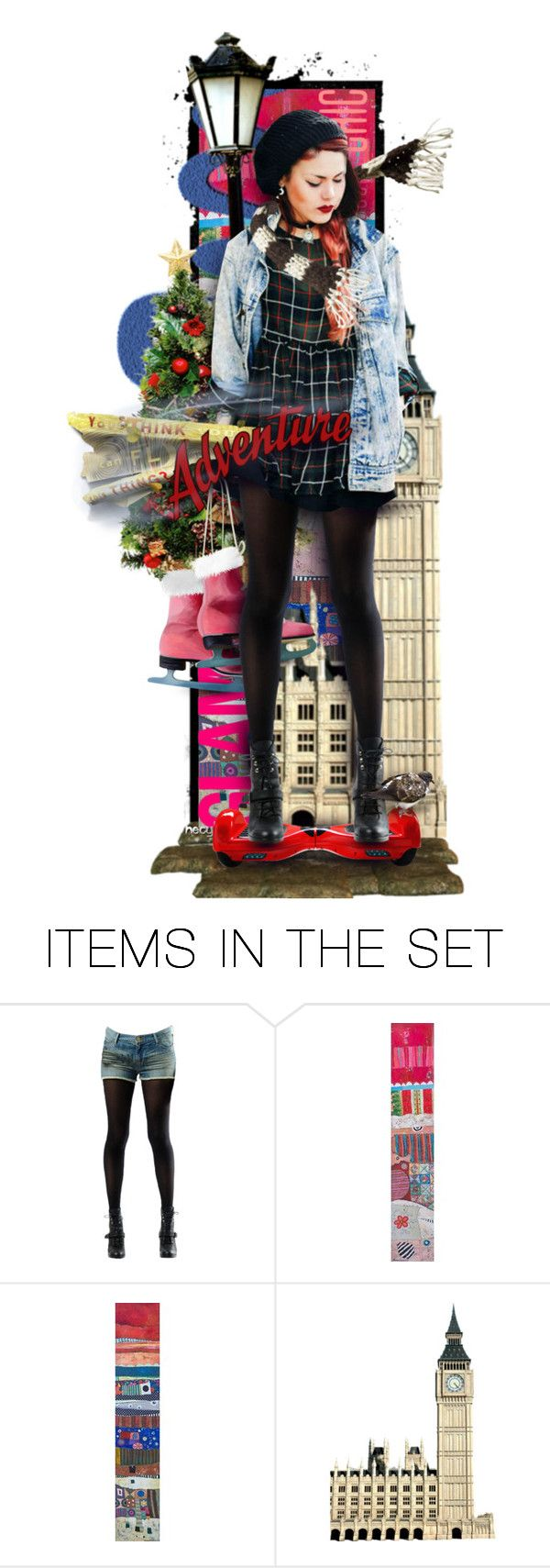 """HoverBoard Ride Along"" by necyluv ❤ liked on Polyvore featuring art"