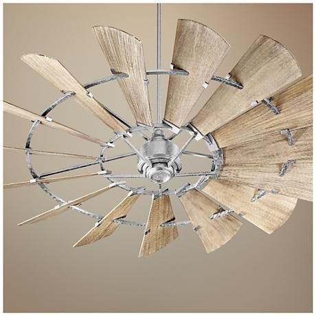 72 Quot Quorum Windmill Galvanized Damp Rated Ceiling Fan 11f48 Lamps Plus Windmill Ceiling