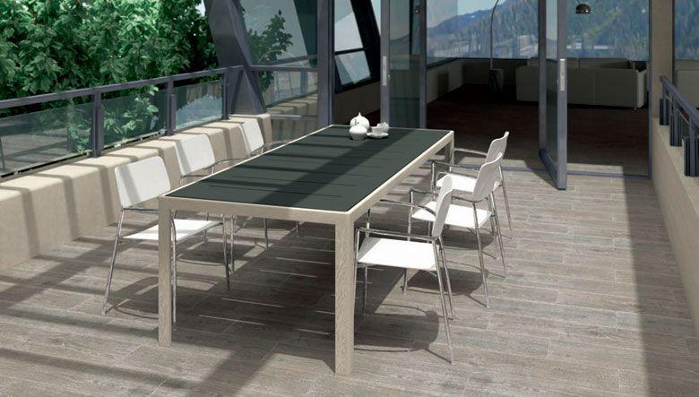 Cer mica gres porcelanico para el dise o de ambientes for Pavimentos para terrazas exteriores