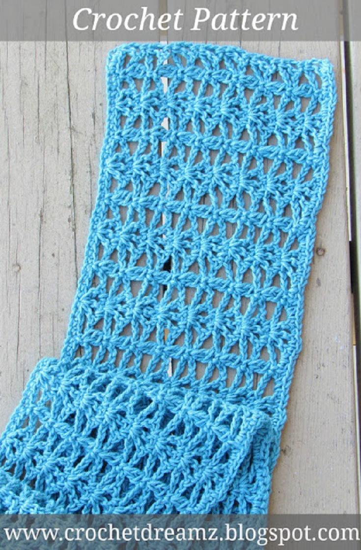 Ana Lacy Scarf, Free Lacy Scarf Crochet Pattern | Scarf crochet ...