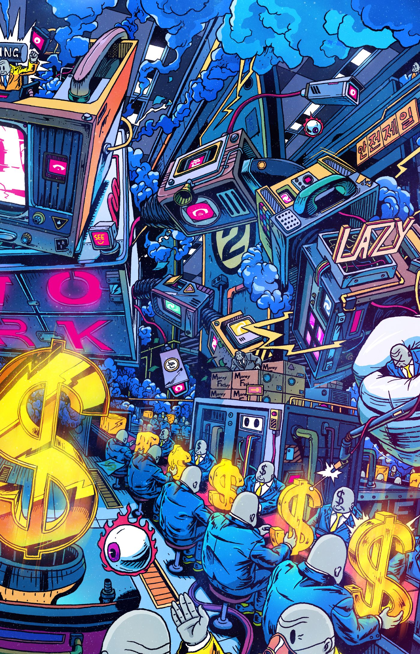 This Is The Series Of Hello Mr Misang Mr Misang Is Traveling Odd Worlds With Pop Art Wallpaper Art Wallpaper Street Art Graffiti Galaxy psychedelic dope wallpaper