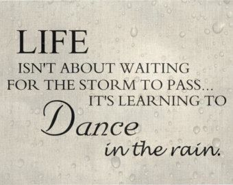 Stop waiting for a better tomorrow. Today is a wonderful day to dance in the rain.  www.hsoulwellness.com  @hsoulwellness @su_vilanova #heartnsoul