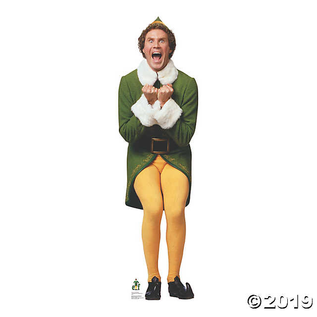 Elf Will Ferrell As Excited Buddy Elf Stand Up Oriental Trading In 2021 Buddy The Elf Elf Movie Elf Christmas Decorations
