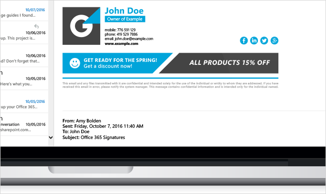 Email Signature For Business Owner Design Your Pro Email Signature Email Signatures Email Signature Design Professional Email Signature