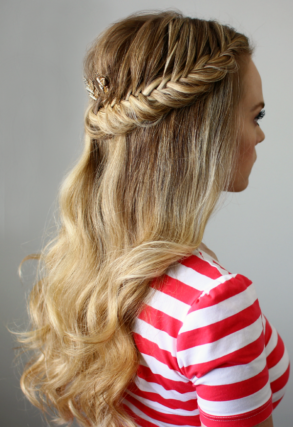 Cute Fishtail Hairstyle Half Up Half Down French Braid Hairstyles Beautiful Long Hair Styles Braided Hairstyles French Braid Hairstyles