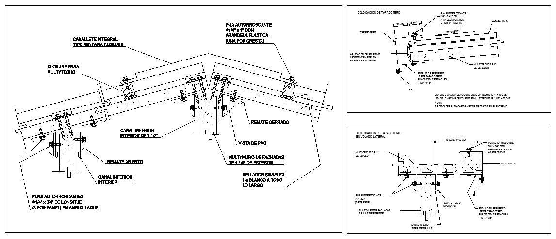 Roof Details V1 – CAD Design | Free CAD Blocks,Drawings,Details