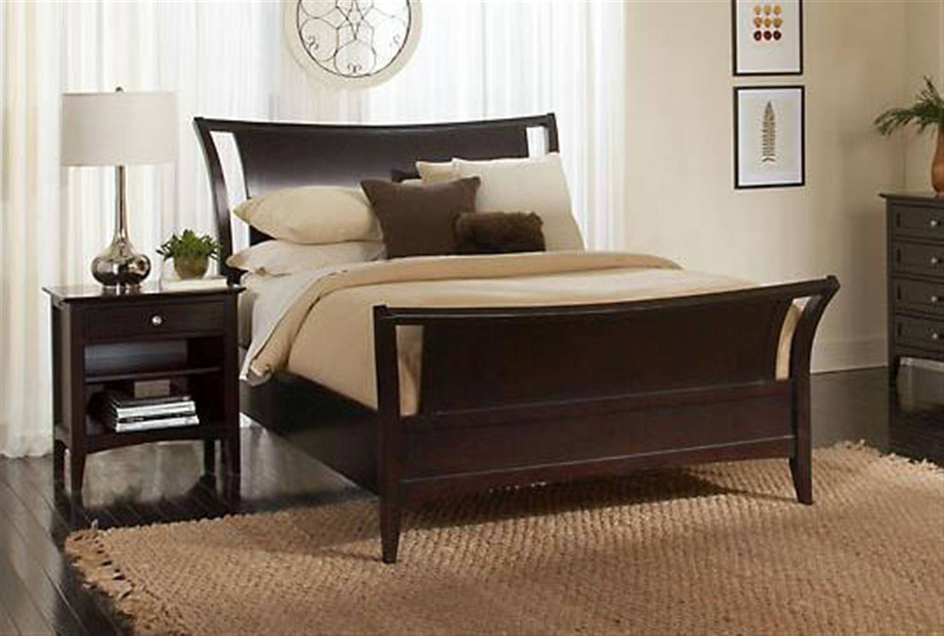Lombard Queen Sleigh Bed Classic Bedroom Contemporary Bedroom Sets Furniture