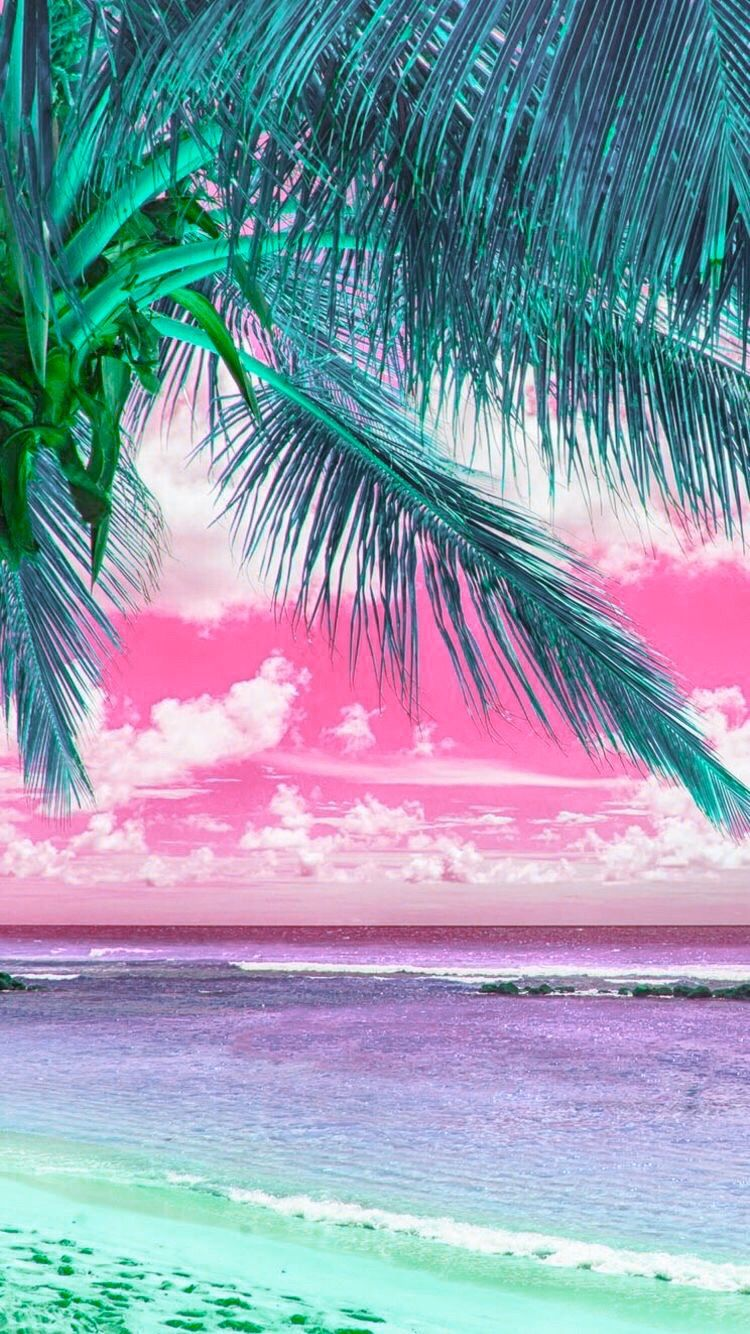 Top Chart Pink Beach By Lauren Cute Wallpaper Backgrounds Cute