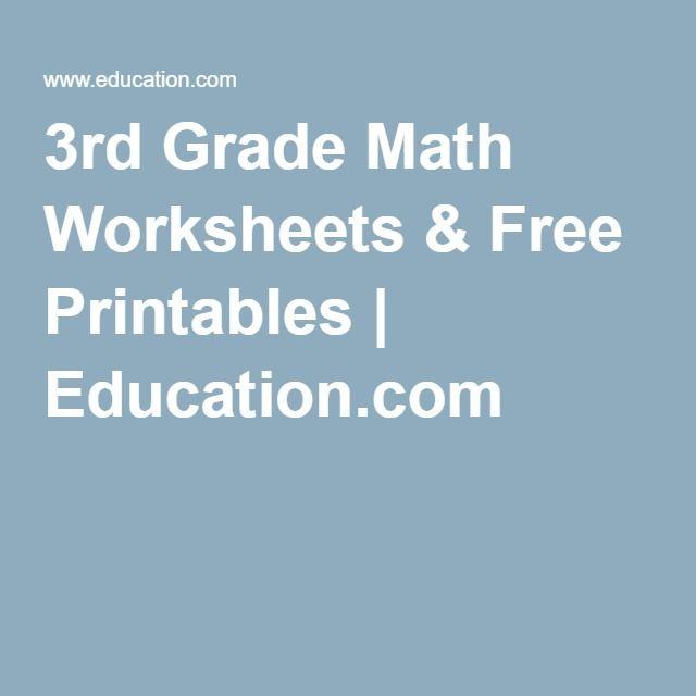 3rd Grade Math Worksheets & Free Printables | Education.com | École ...