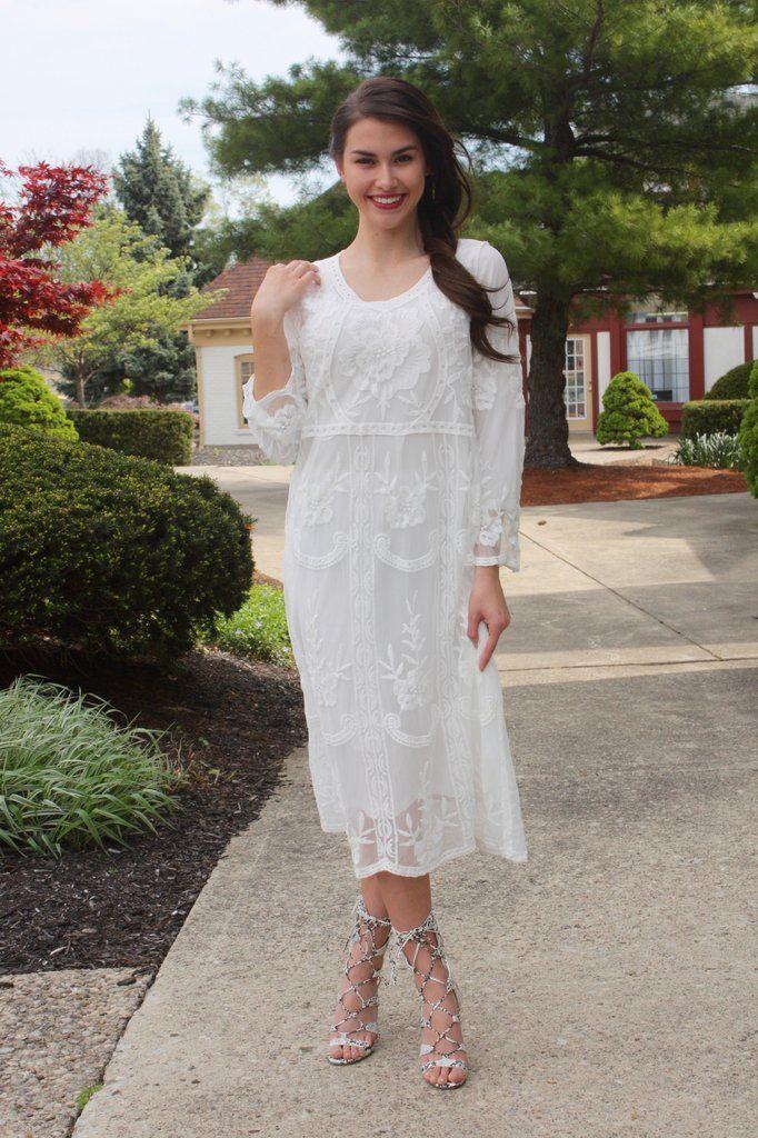 Jillian White Lace Midi Dress   www.piperstreetshop.com