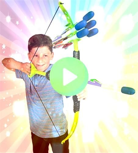 Sparky Faux Bow 3  Shoots Over 100 Feet  Foam Bow  Arrow Archery Set  JOBAKIDS Boys 2 Pieces Set Boys Cotton Clothing SetBlack 6T Clothing  GIFT4KIDS Girl Toys for 412 Ye...