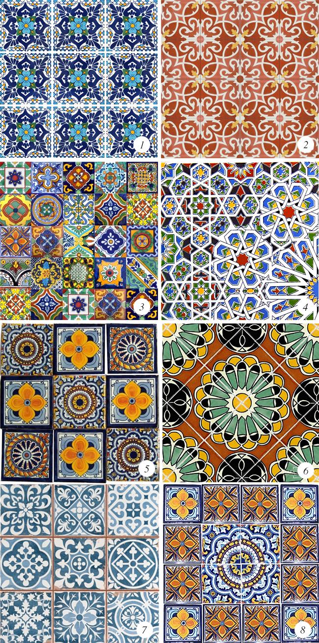 Colorful moroccan tiles home and interior love for Baldosa ceramica interior