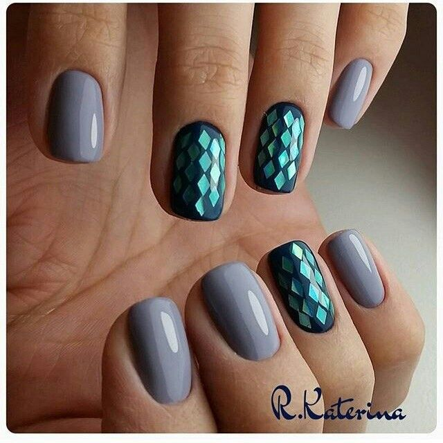 Mermaid vibes   Shellac Nails   Pinterest   Diseños de uñas ...