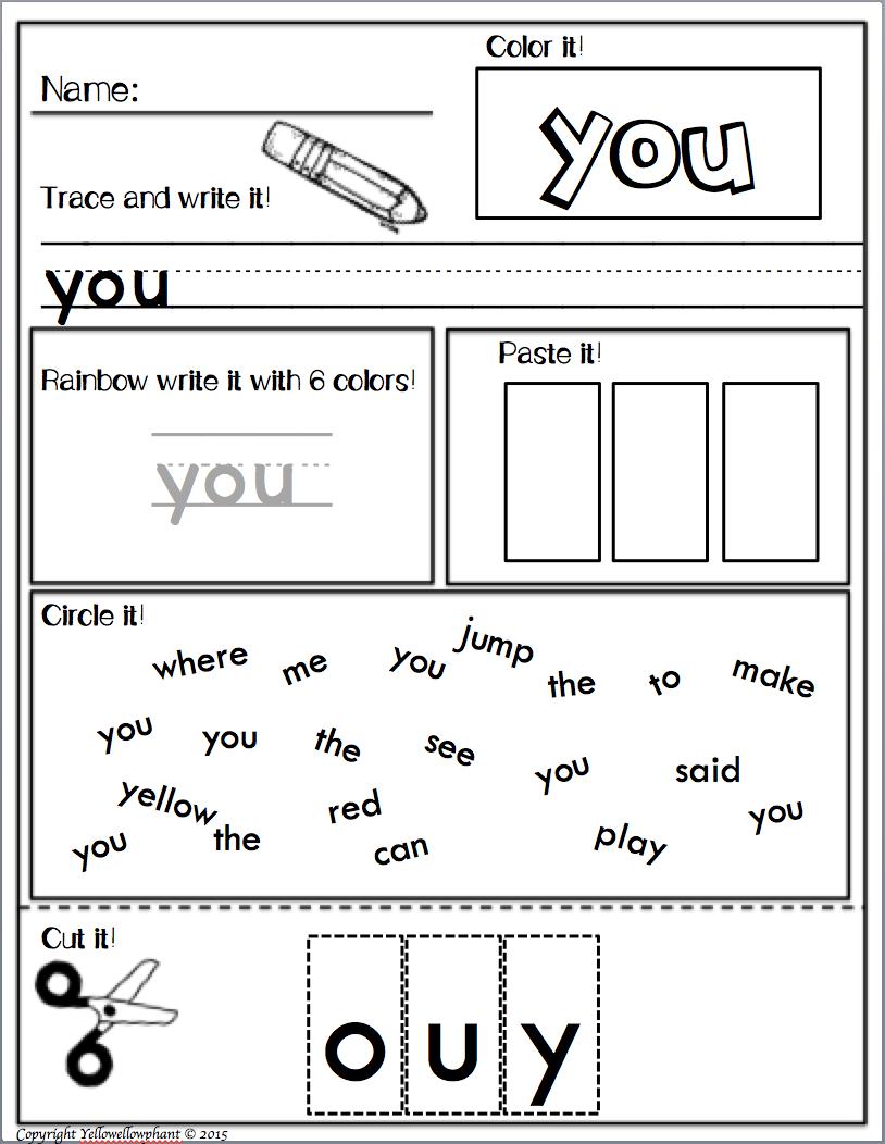 Sight words kindergarten literacy and teacher pay teachers