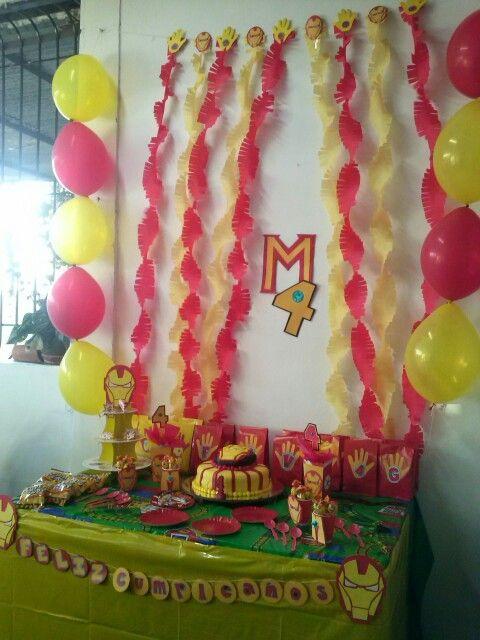 Fiesta Iron Man Homemade Fiestaironman Party Kids