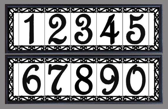 House Number Address Tiles