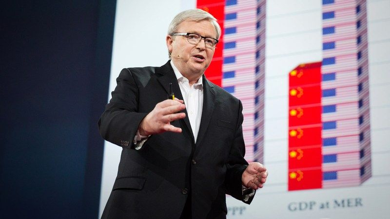 """❛Kevin Rudd❜ TED2015: Are China and the US doomed to conflict? • """"The former prime minister of Australia, Kevin Rudd is also a longtime student of China, with a unique vantage point to watch its power rise in the past few decades. He asks whether the growing ambition of China will inevitably lead to conflict with other major powers — and suggests another narrative."""""""