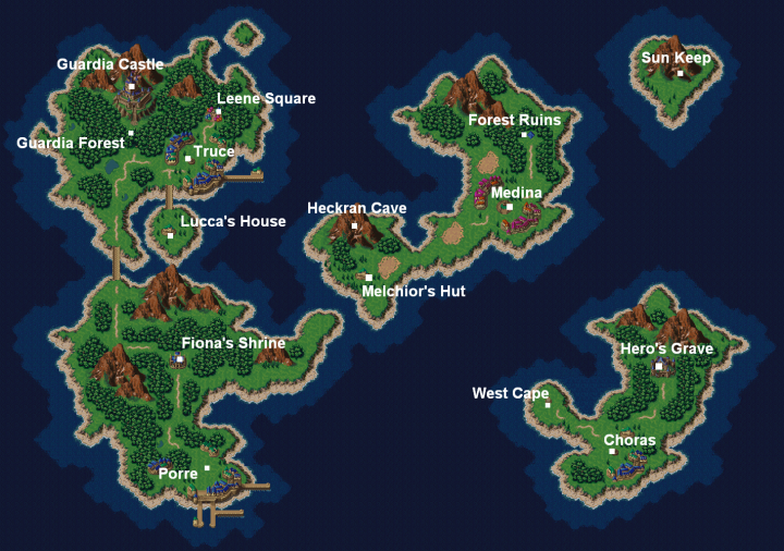 Map of Chrono Cross | Fantasy World Maps | Chrono cross ... Chrono Trigger Map on dragon age: inquisition map, dragon warrior vii map, animal crossing map, alex kidd in miracle world map, conker's bad fur day map, chrono cross map, pillars of eternity map, tales of hearts map, fire emblem map, grand knights history map, mighty bomb jack map, the elder scrolls v: skyrim map, mortal kombat x map, super ghouls 'n ghosts map, kingdom hearts birth by sleep map, baldur's gate ii map, grand theft auto: san andreas map, assassin's creed unity map, drakengard map, earthbound map,