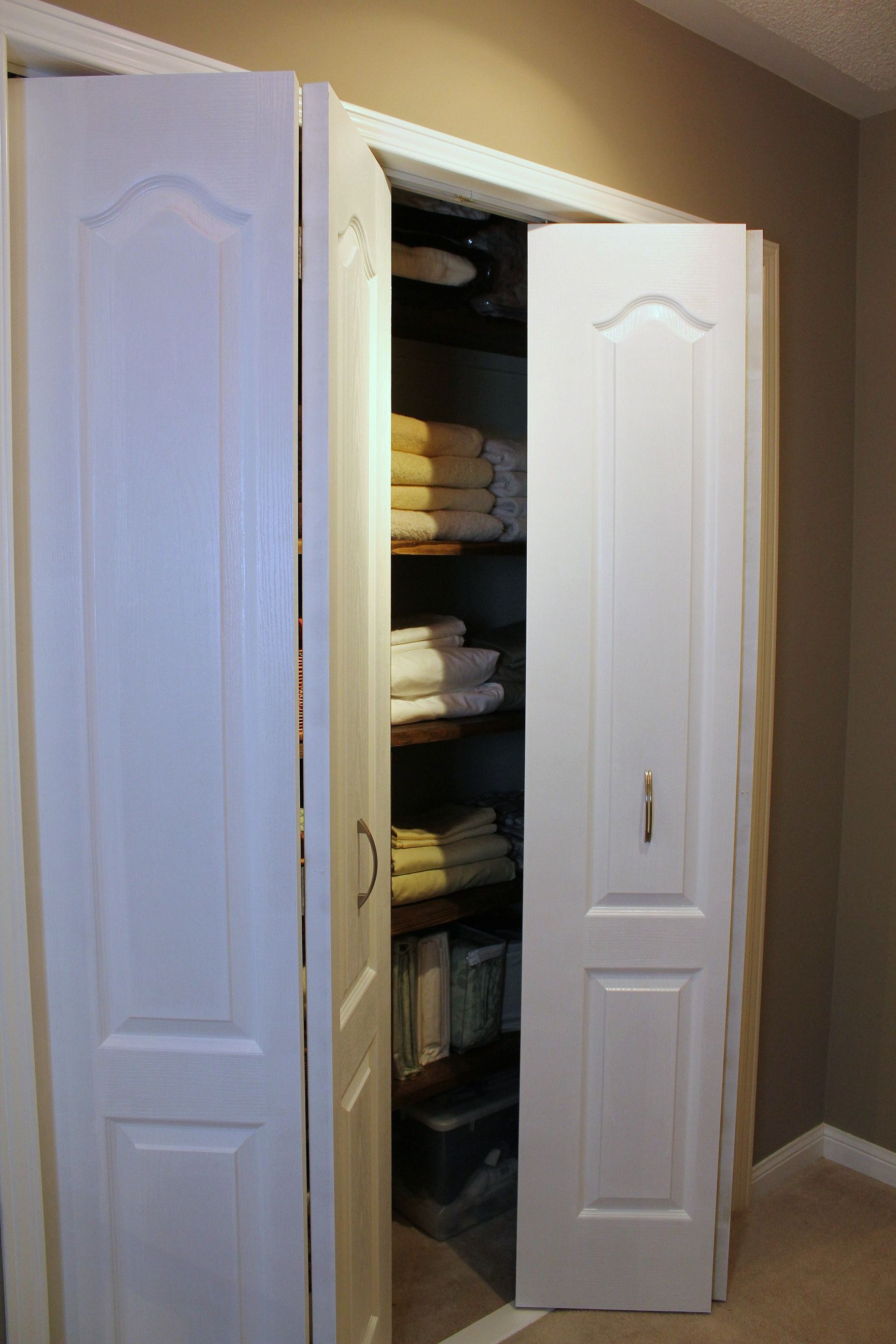 How to change sliding to bifold closet doors