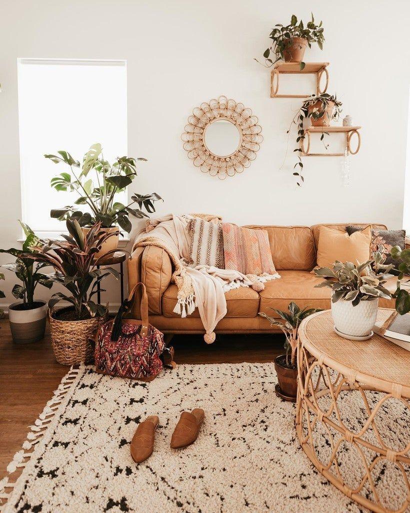 Timber Charme Tan Sofa Boho Living Room Room Inspiration