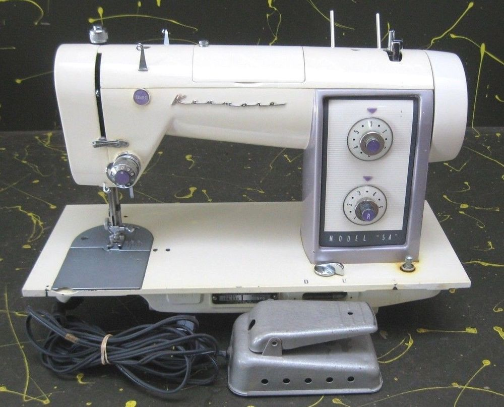 "Vintage Kenmore ""54"" Sewing Machine Heavy-Duty Sewing Machine Repair,  Vintage Sewing"