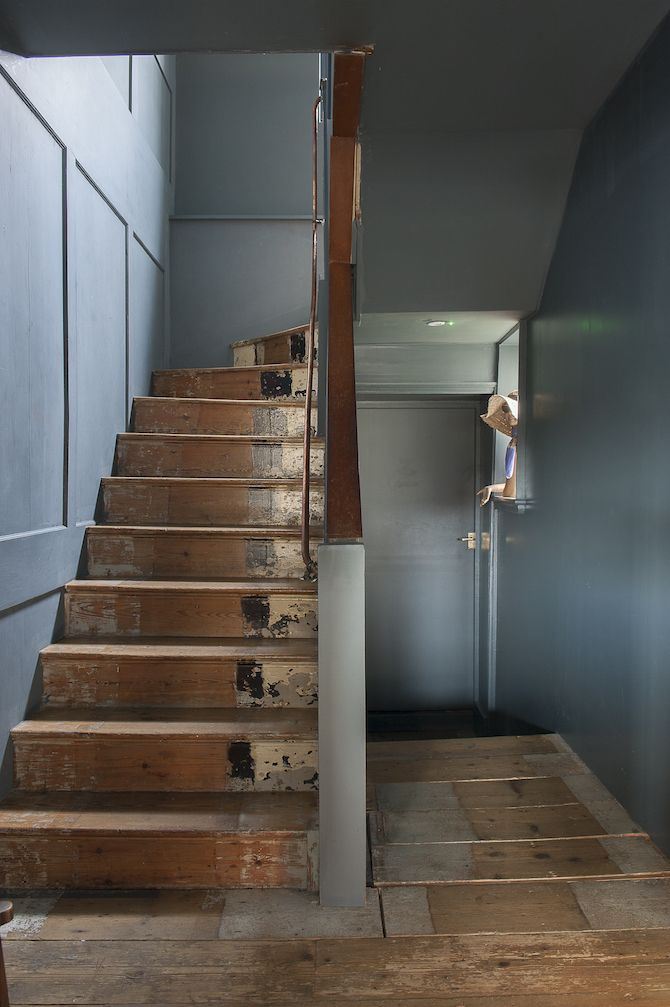 House Seaside Salvation Stair Paneling Painted Staircases   Stripping Stairs Back To Wood   Sanding   Carpeted Stairs   Paint   House   Hardwood