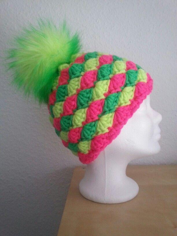 Mütze Mit Muschelmuster By Me Pinterest Crochet