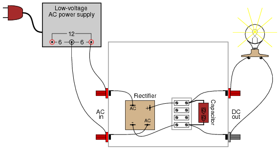 filter circuits with capacitors likewise on kbpc5010 bridge