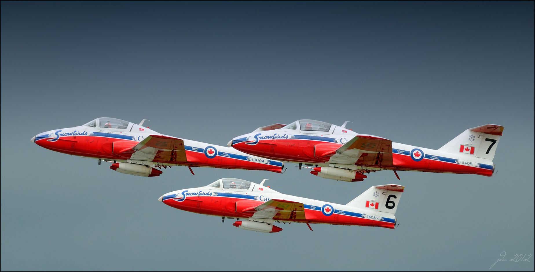 2012 canadian forces snowbirds 3 ship takeoff into a