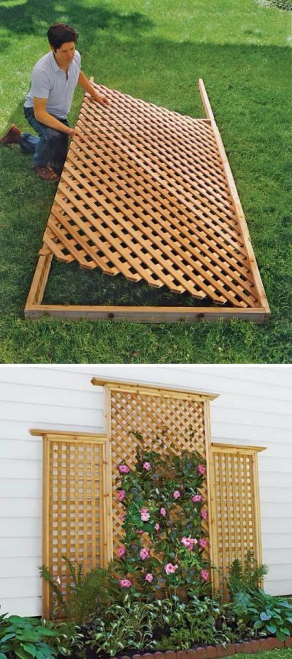 32 Ingenieuses Facons De Creer Votre Treillis De Jardin Avec Du Materiel Que Vous Avez Sous La Main Treillis Jardin Deco Exterieur Jardin Jardins