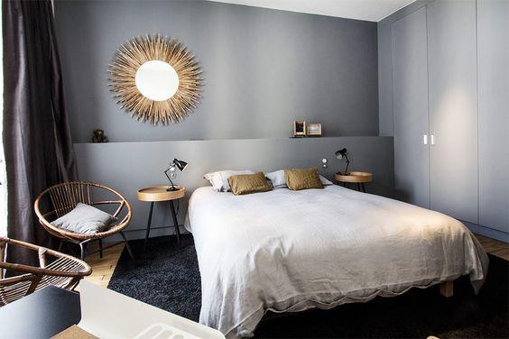 Un bleu gris pour la #chambre ! #déco #couleur    wwwm-habitat