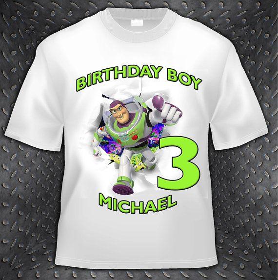 Toy Story Buzz Lightyear Birthday T Shirt  by PersonalizedBirthday