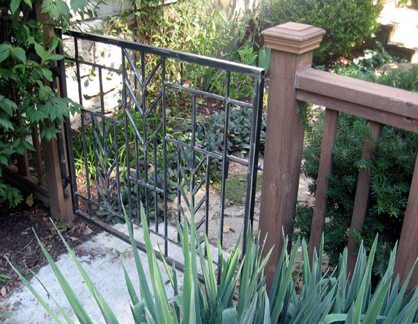 Frank Lloyd Wright Inspired Gate Iron Garden Gates Small