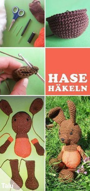 Hasen mit süßen Hasenohren häkeln - kostenlose Anleitung | Hase ...