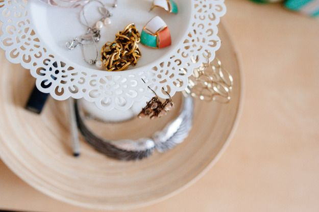 Jewelry Stand from our Style Me Pretty Tutorial:)
