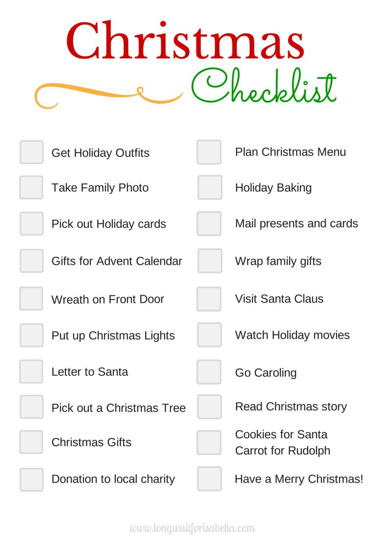 Amazing Donu0027t Forget Anything With This Printable Christmas Checklist! Regard To Christmas Preparation Checklist