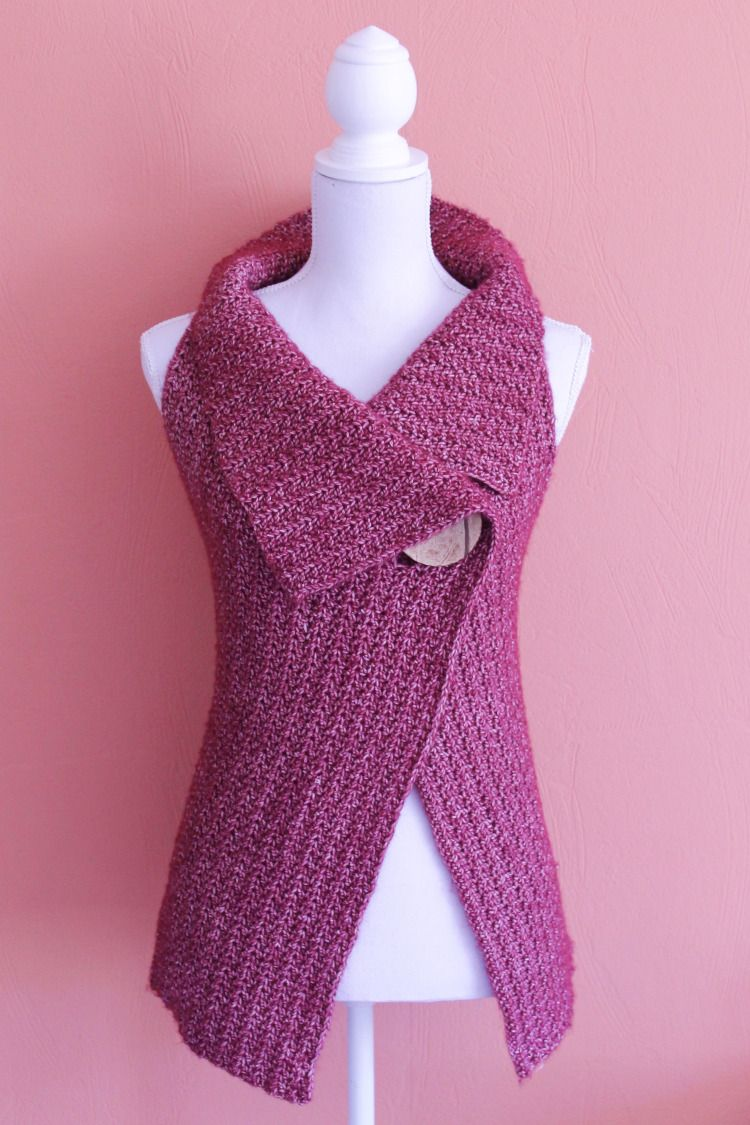 Peek-a-Boo Button Wrap Pattern Size S-XL | Stitchery | Pinterest ...