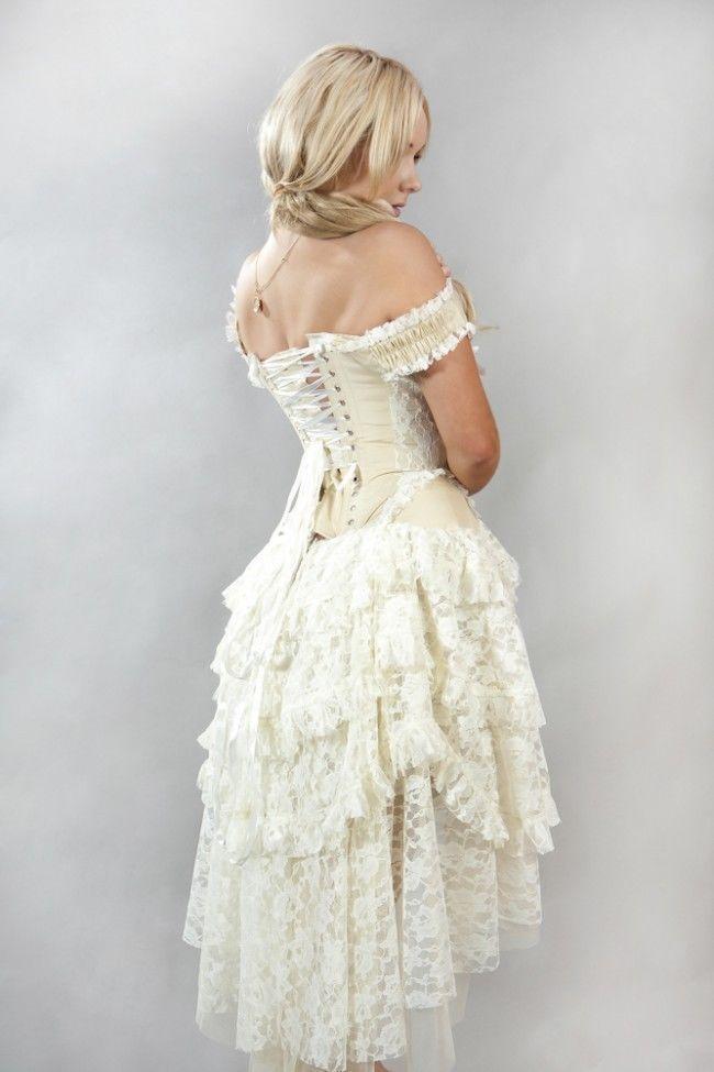 New Vintage Victorian Gothic Steampunk Evening Corset Burleska Dress ...