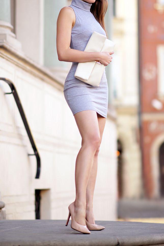 Zawsze Lubilam Dopasowane Sukienki Ale Odkad Chodze Na Silownie Jeszcze Chetniej Wybieram Fasony Podkreslajace Figure Szara Obcis Fashion Perfect Legs Style