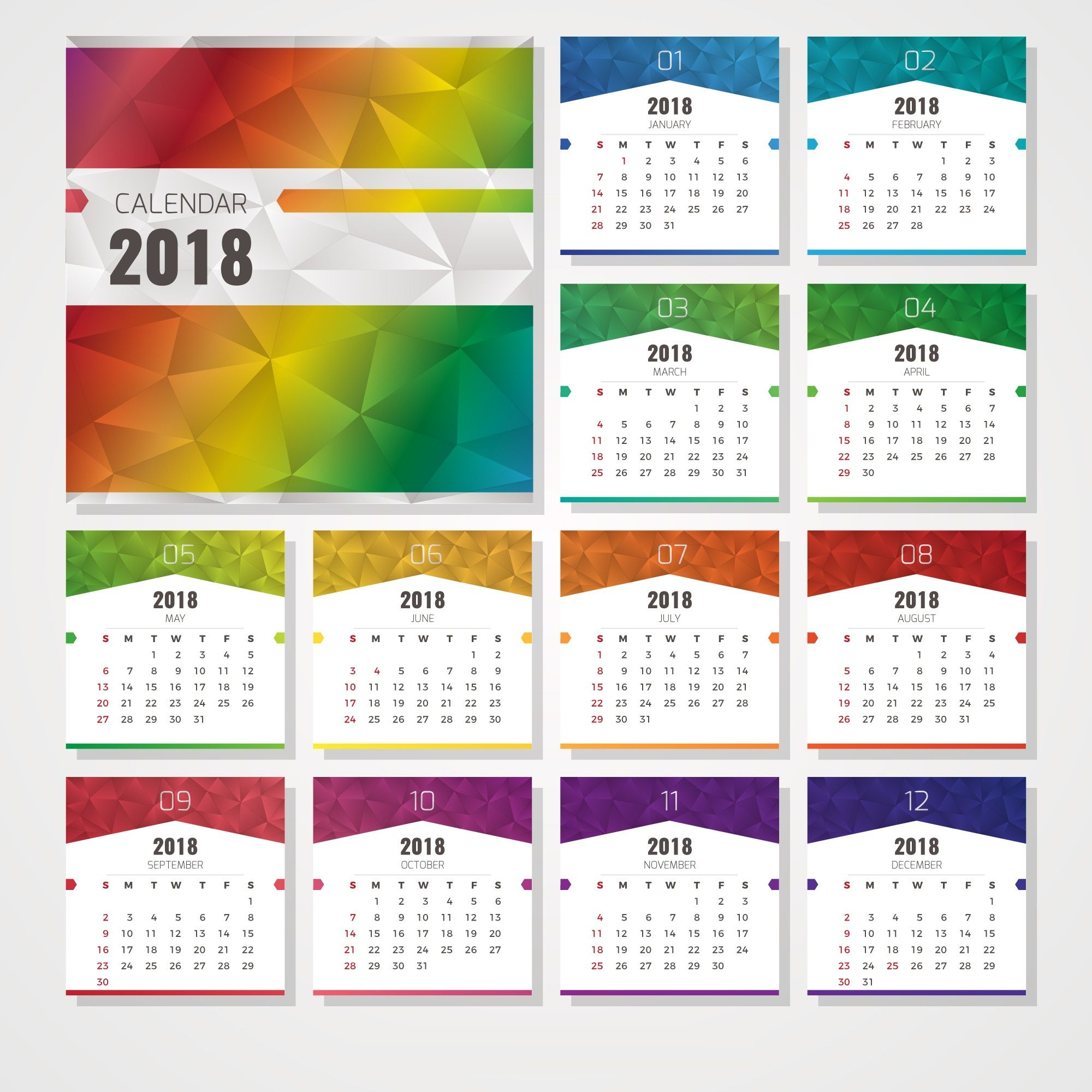 free downloadable 2018 calendar
