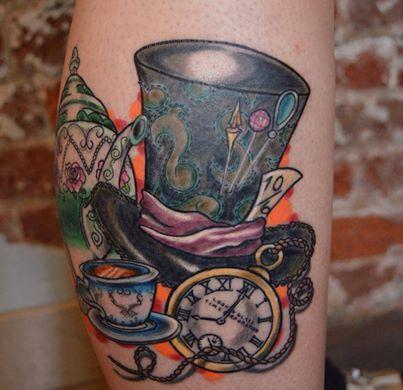 Alice in wonderland tattoo #aliceinwonderland # ...  |Alice Tea Tattoo