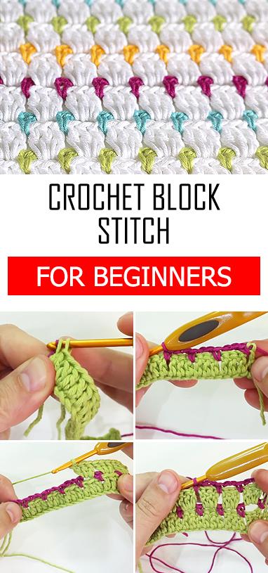 Crochet Block Stitch - Easy & Free Video Tutorial