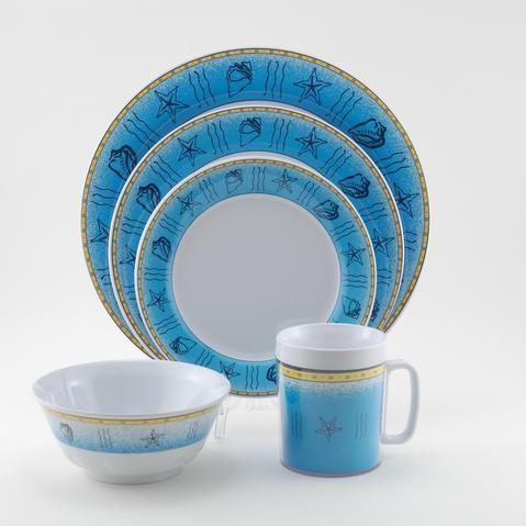 Offshore Melamine #Dinnerware Collection buy at Seaside Beach Decor .seasidebeachdecor.com & Offshore Melamine #Dinnerware Collection buy at Seaside Beach Decor ...