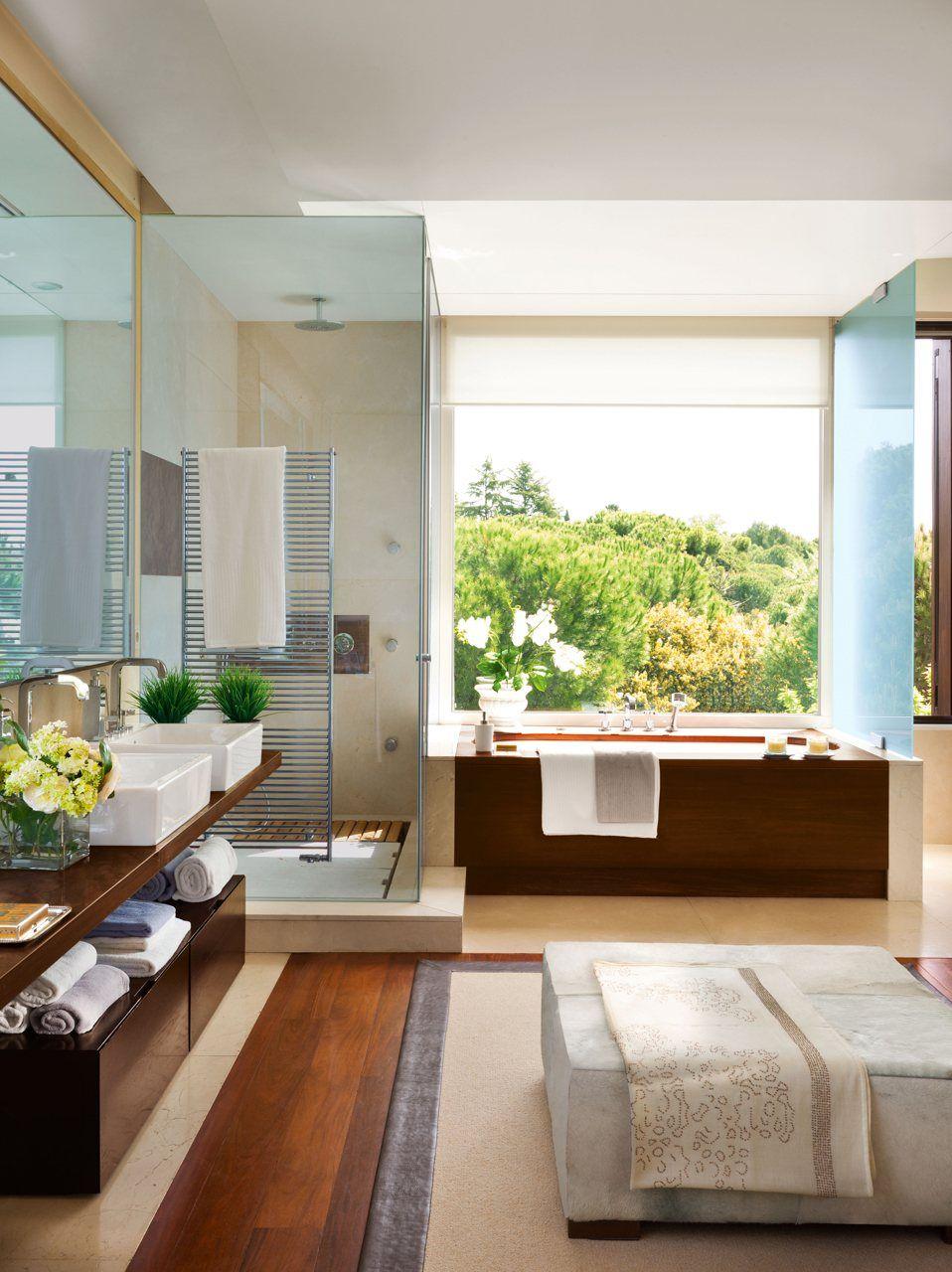 Un baño amplio y muy versátil con vestidor | Cocinas y ...