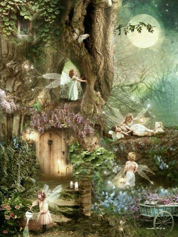 Fairies In Forest Fairy Art Beautiful Fairies Fairy