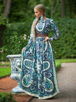 ecf9005ed4ef4c Современная одежда в русском народном стиле, фото женской и детской одежды  в русском стиле