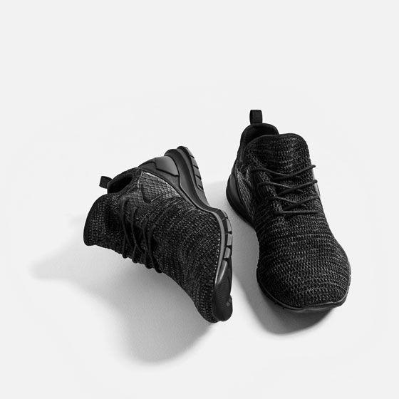 Chaussures De Tissu Noir G90ifChFQS