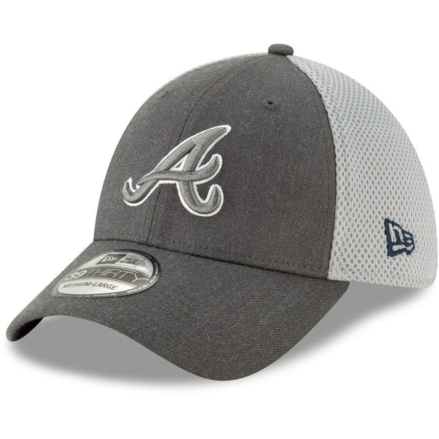 Atlanta Braves New Era Neo 39thirty Flex Hat Graphite Atlanta Braves Braves Atlanta Braves Hat